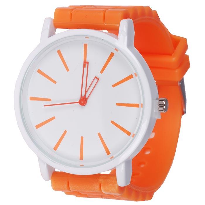 Geneva Mode horloge Silicon Beach Orange
