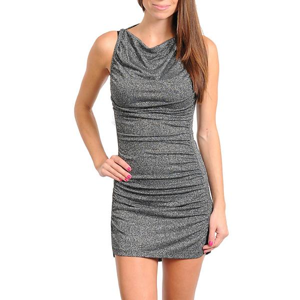 Glitter jurk Zilver