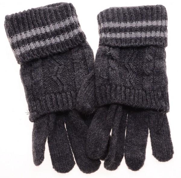 Handschoenen Blauw Grijs wol