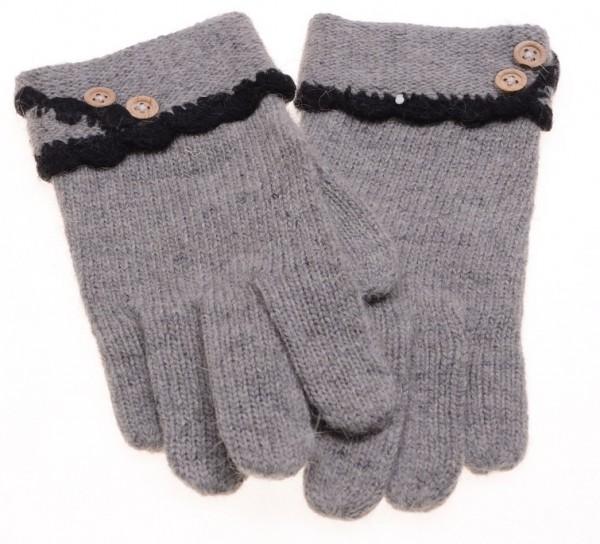 Handschoenen Grijs Angora Wool