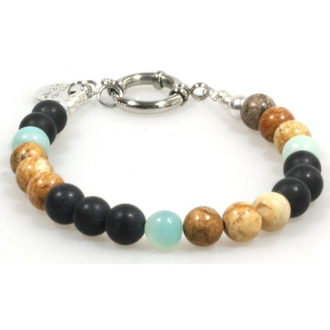 Heaven Eleven heren Armband Colored Stones MB128-21cm thumbnail