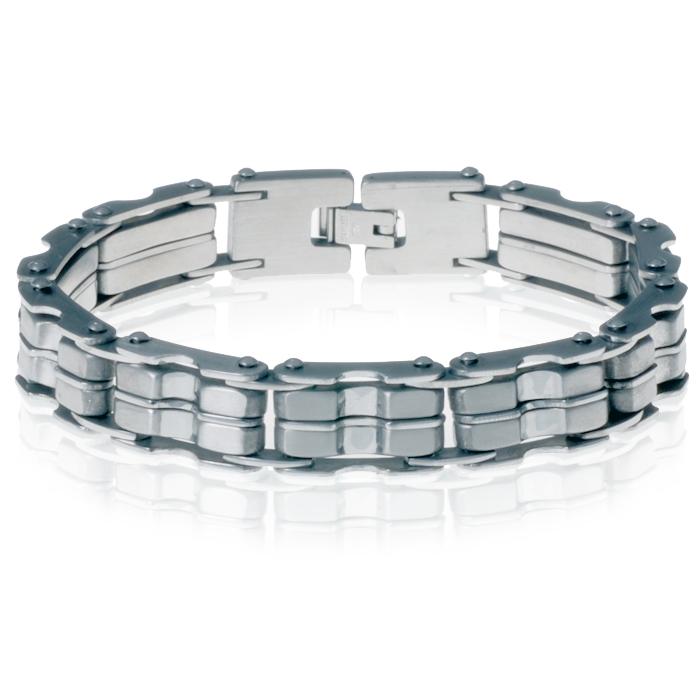 Heren armband RVS Bike Chain Silver