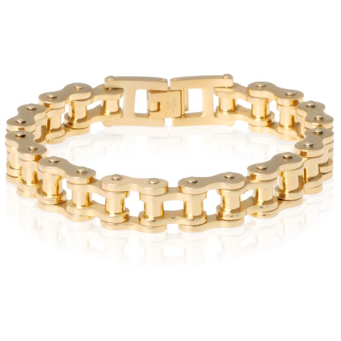 Heren armband Edelstaal Biker Chain Gold