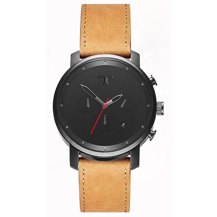 Heren Horloge Big T Zwart Rood