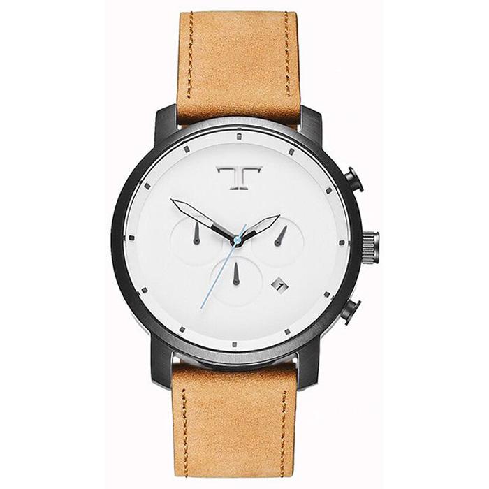 Heren Horloge Big T Zwart Wit Blauw
