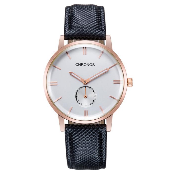 Heren horloge Chronos Black White Rose