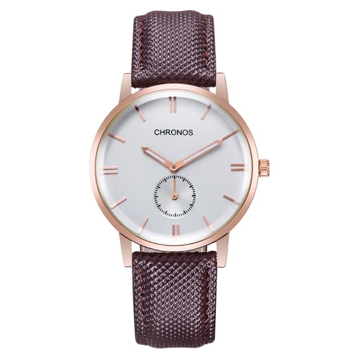 Heren horloge Chronos Brown White Rose