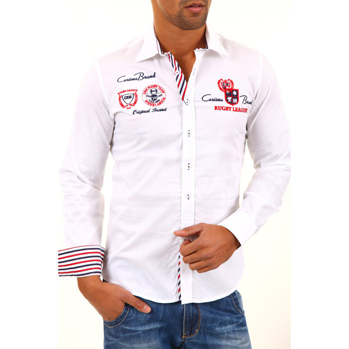 Heren overhemd Carisma Long Sleeved Wit