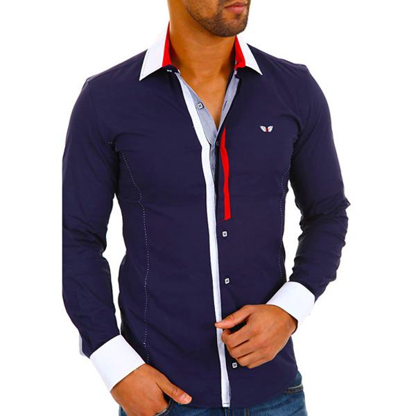Heren overhemd Carisma Navy