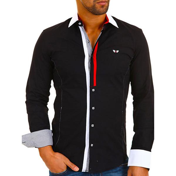 Heren overhemd Carisma Zwart