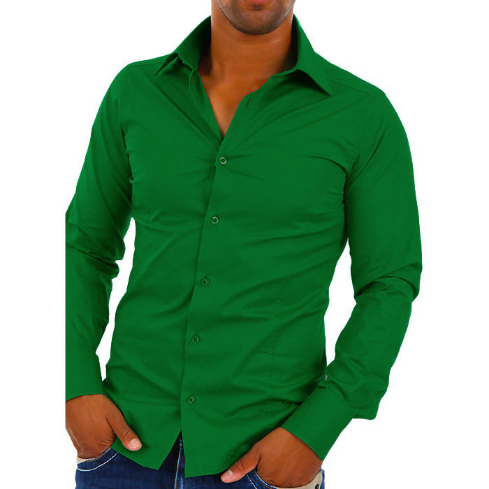 Heren overhemd van red bridge met lange mouwen en button up kraag. slim fit pasvorm gemaakt van 97% katoen en ...
