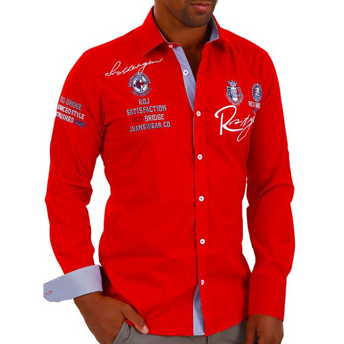 Heren Overhemd Rood.Alle Bedrijven Online Heren Overhemd Red Bridge Rood Heren Kleding