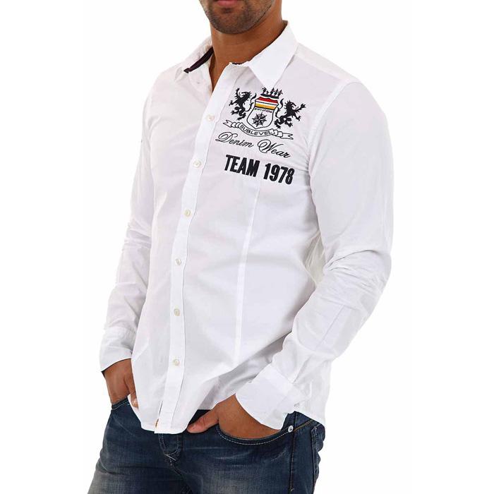 Heren overhemd Sublevel long sleeved White