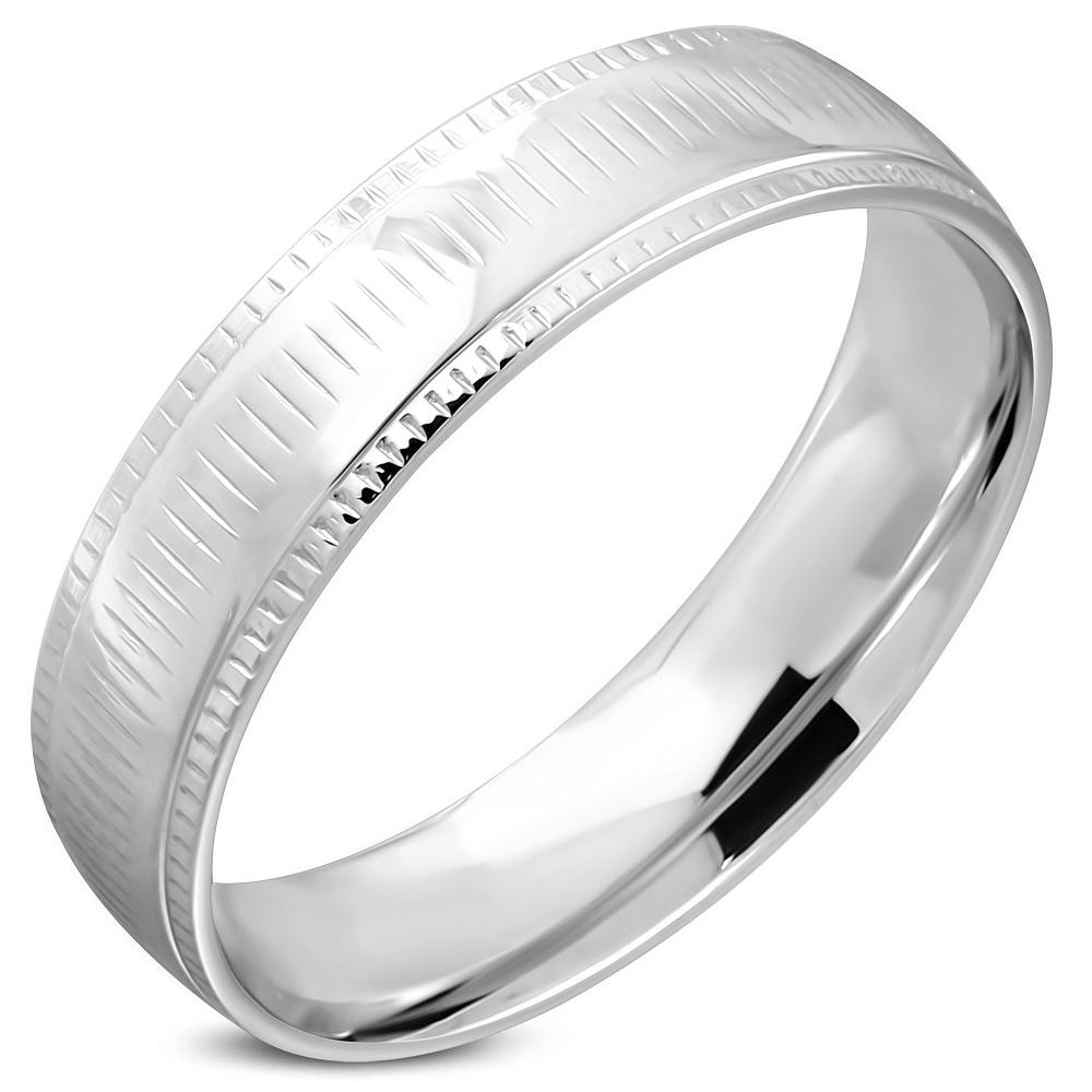 Heren ring RVS Coin Edge