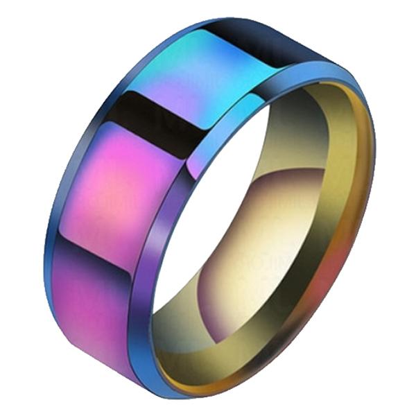 Heren ring Titanium Multicolor 8mm 17mm