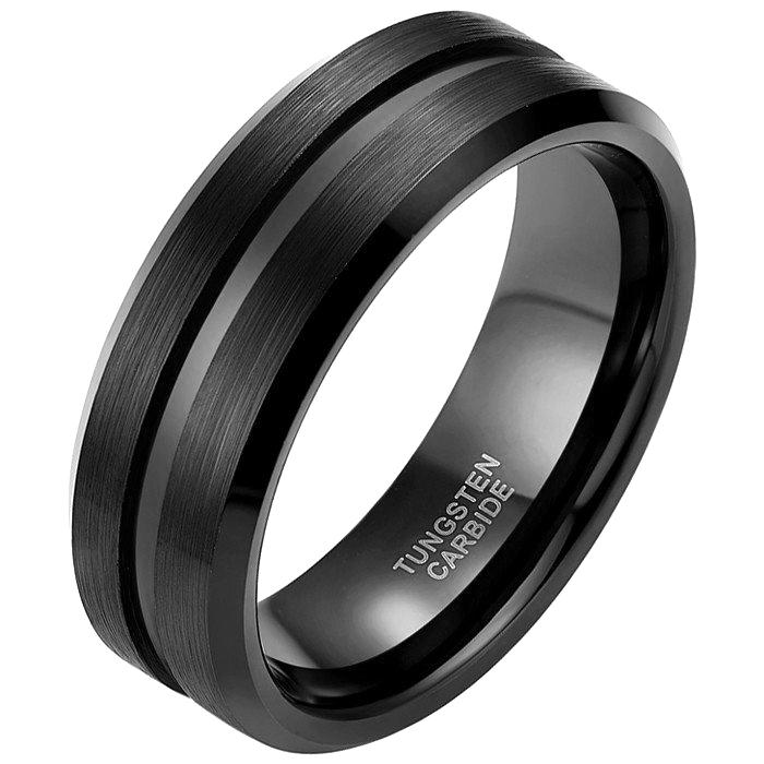 Heren ring Wolfraam Zwart 8mm 17mm