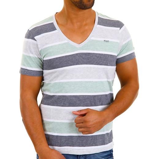 Heren shirt M.O.D Green Grey Striped