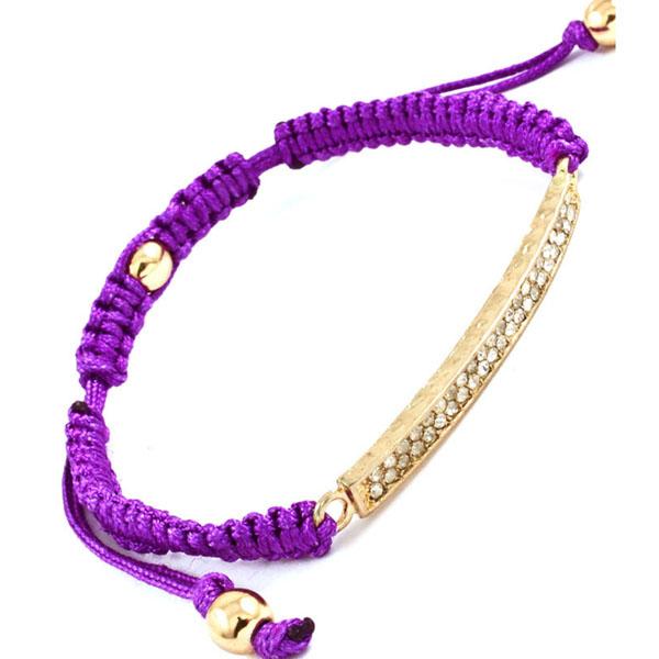 Hippe dames armband Cord Purple