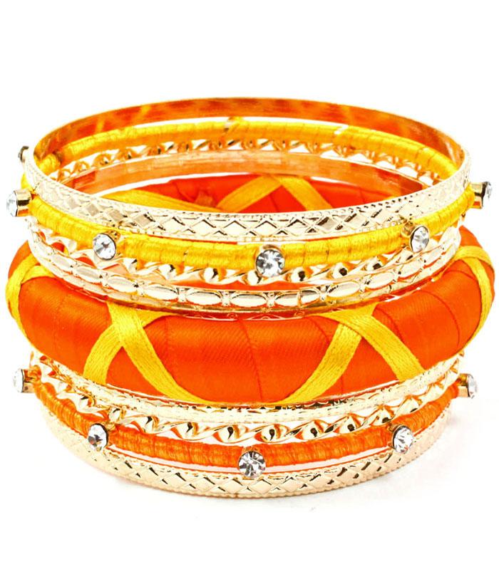 Hippe dames bangle Orange