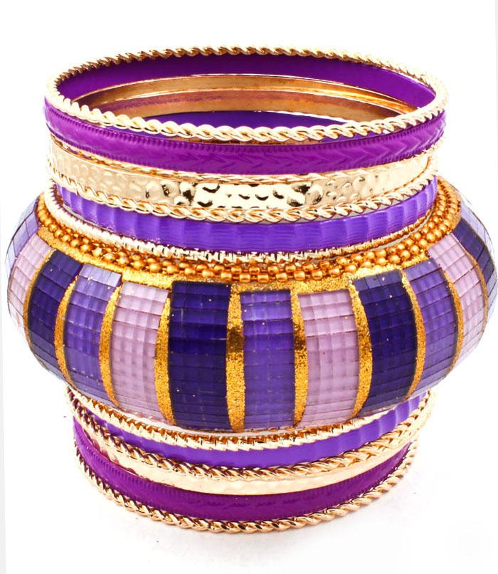 Hippe dames bangle Purple