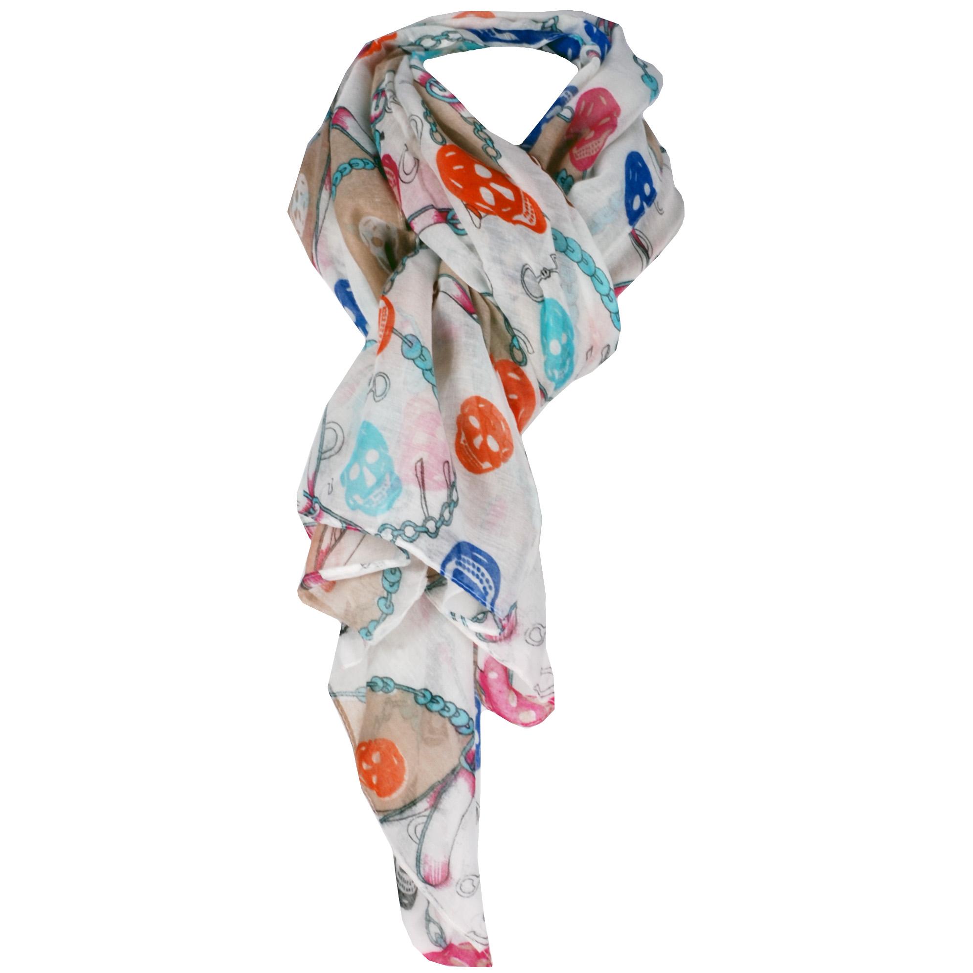 Hippe Dames sjaal Skulls