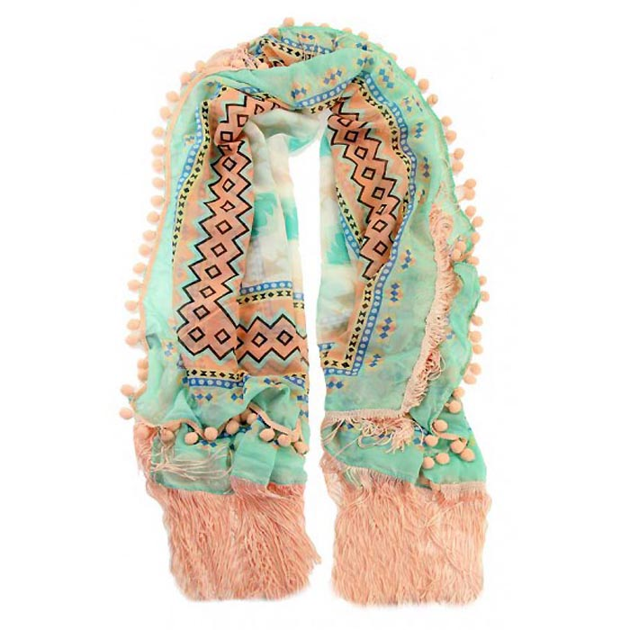 Ibiza sjaal Bombetes Mint