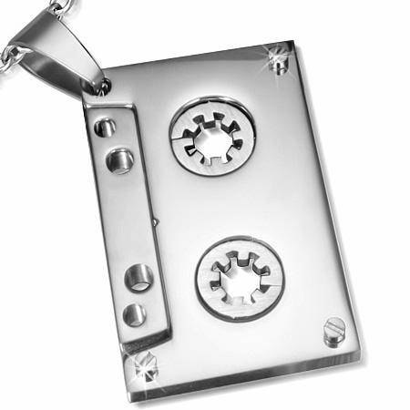 Kettinghanger Edelstaal Audio Tape Silver