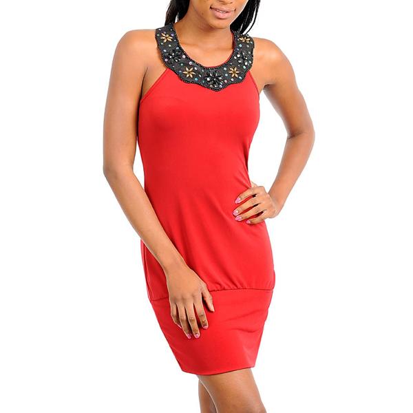Korte jurk Viola Rood