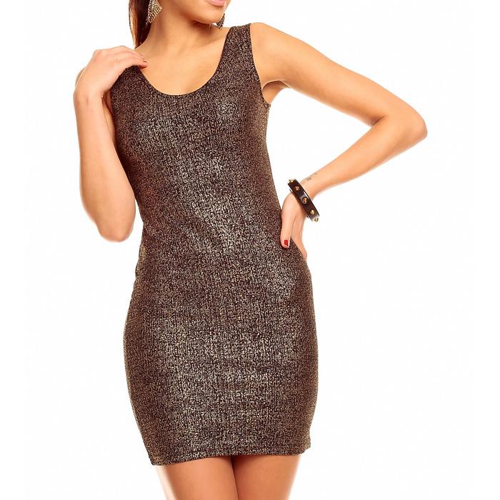 Korte party jurk Zwart Goud