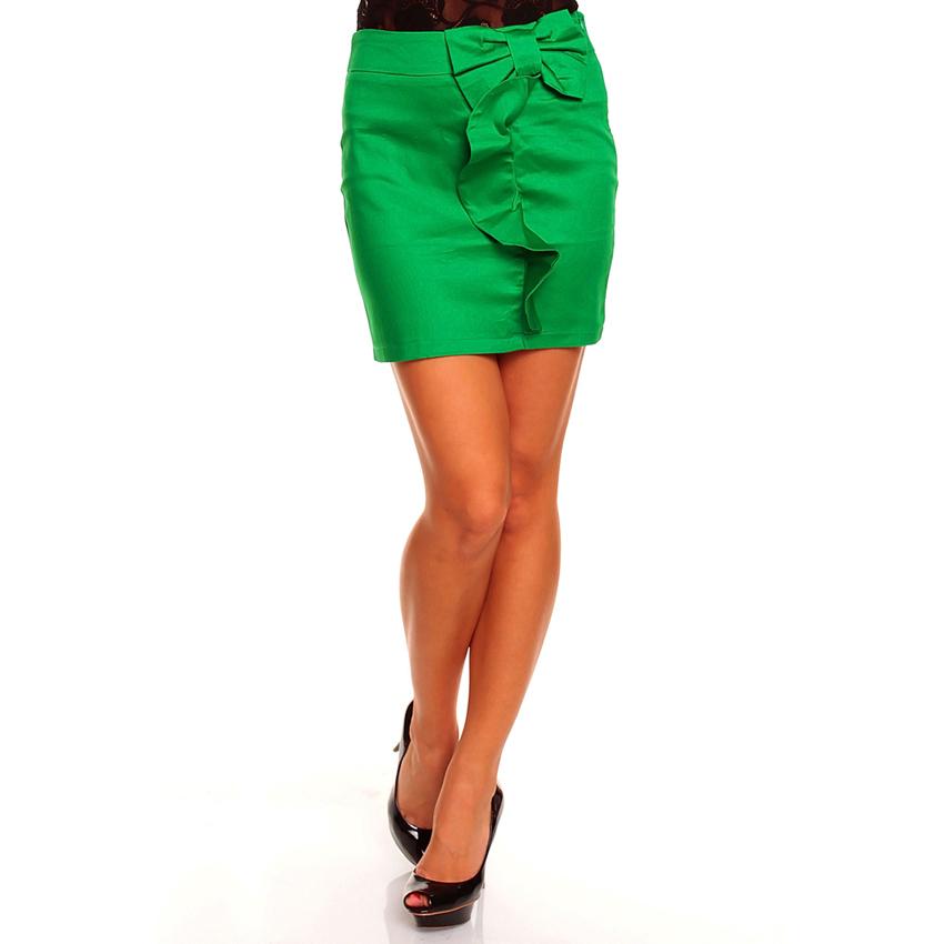Korte rok Strik groen