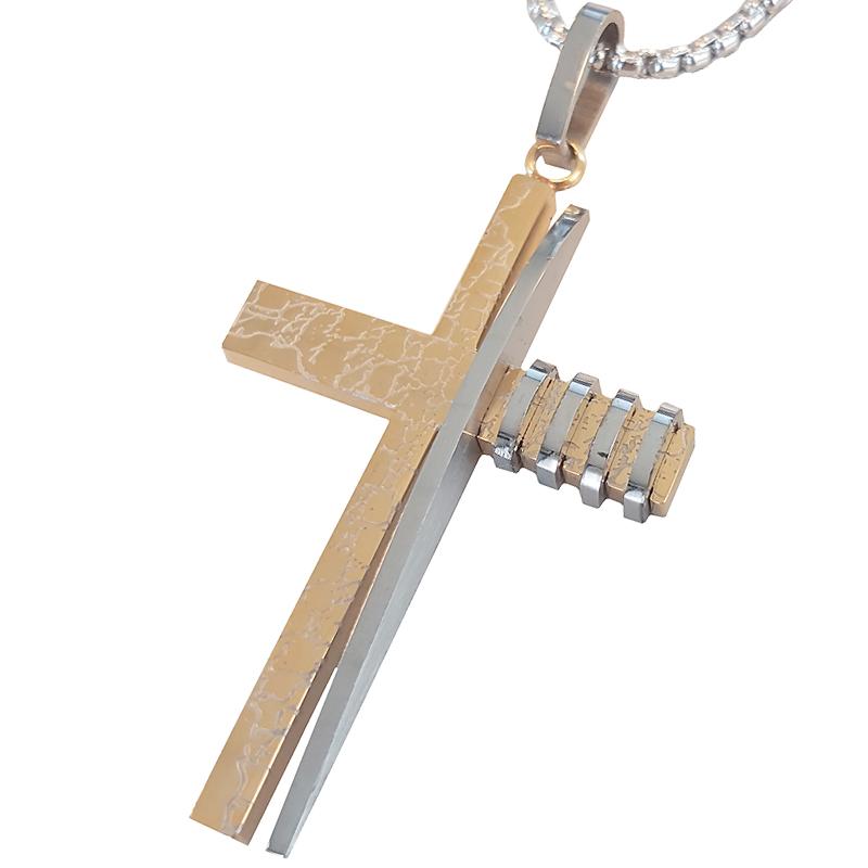 Kruis kettinghanger inclusief ketting Goud Zilver