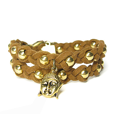 La Bon wrap armband Buddha Bruin