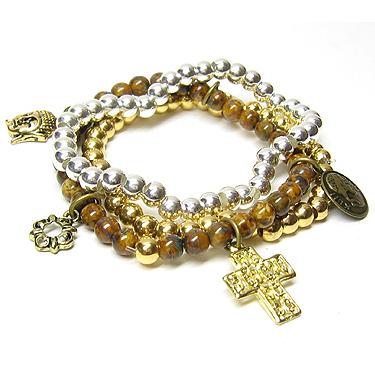 La Bon armband met bedels Goud