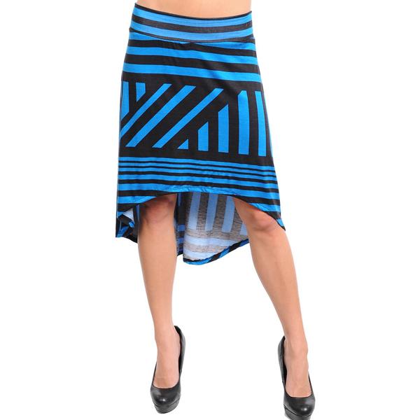 Lange rok dames Blauw/Zwart