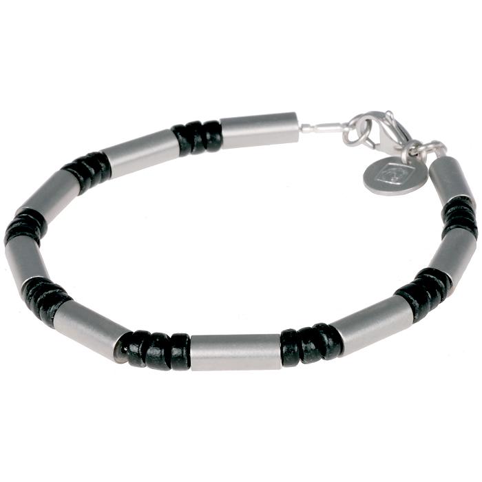 Leo Marco heren armband Kokos Edelstaal LM1011