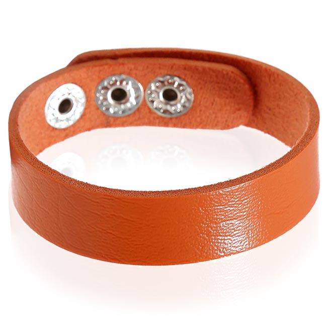 Leren armband LGT Jewels Verstelbaar Oranje