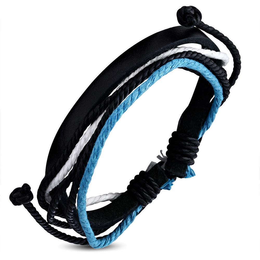 Leren armband met Touw Multi Wrap fwb129