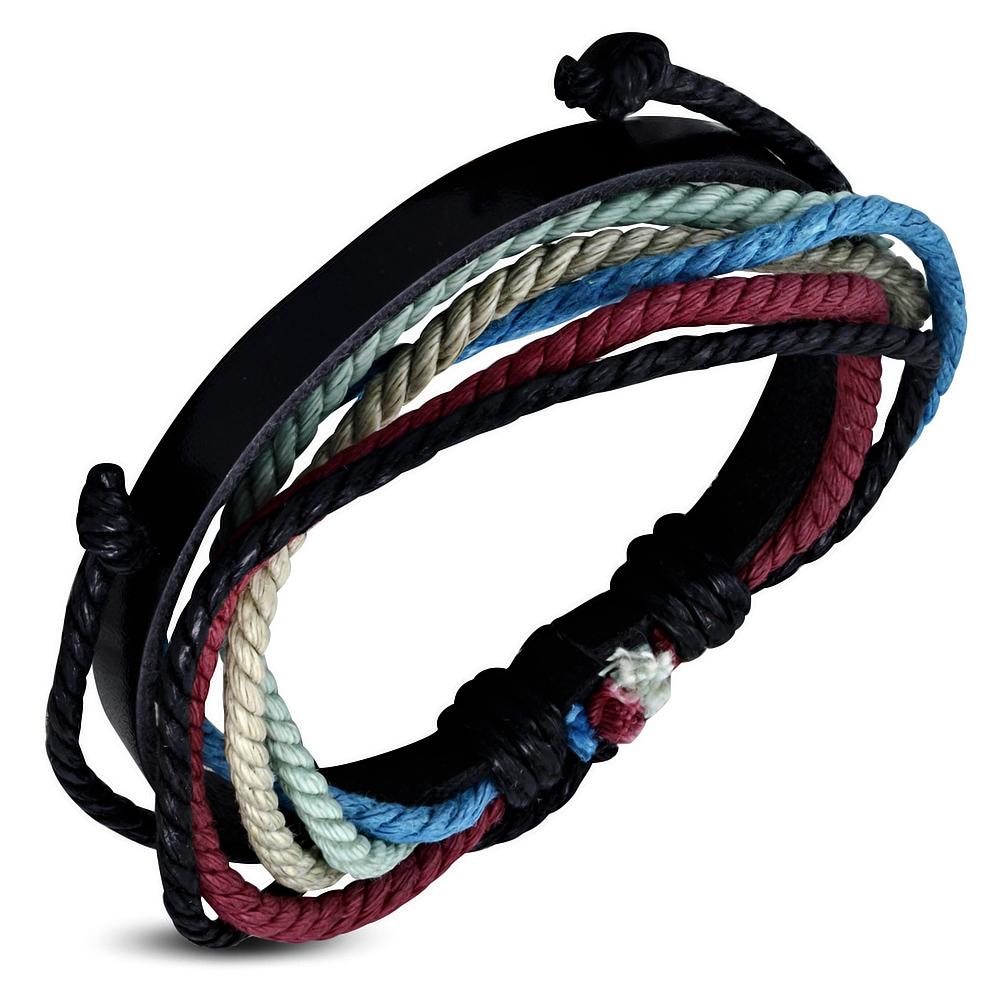 Leren armband met Touw Multi Wrap fwb133