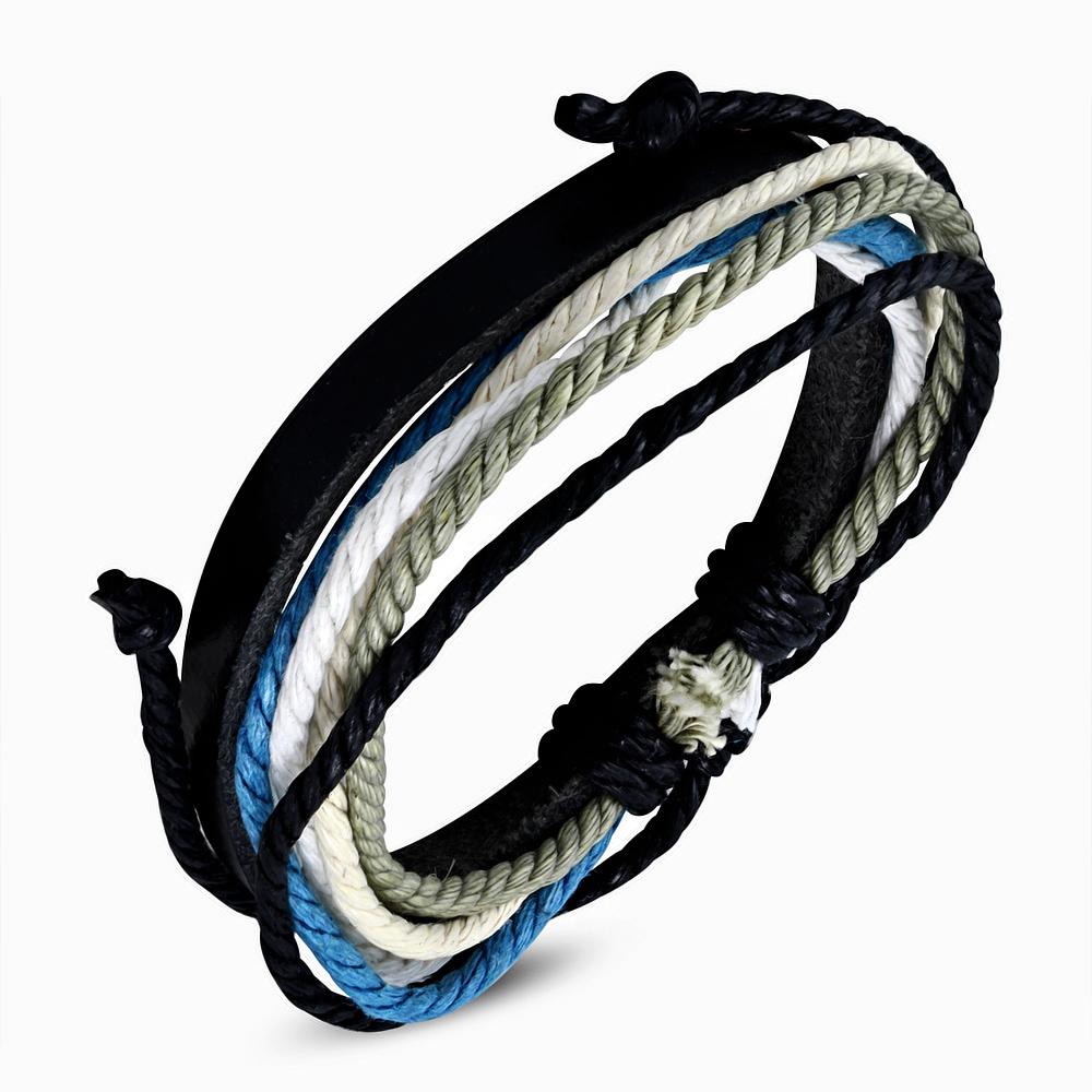 Leren armband met Touw Multi Wrap fwb138