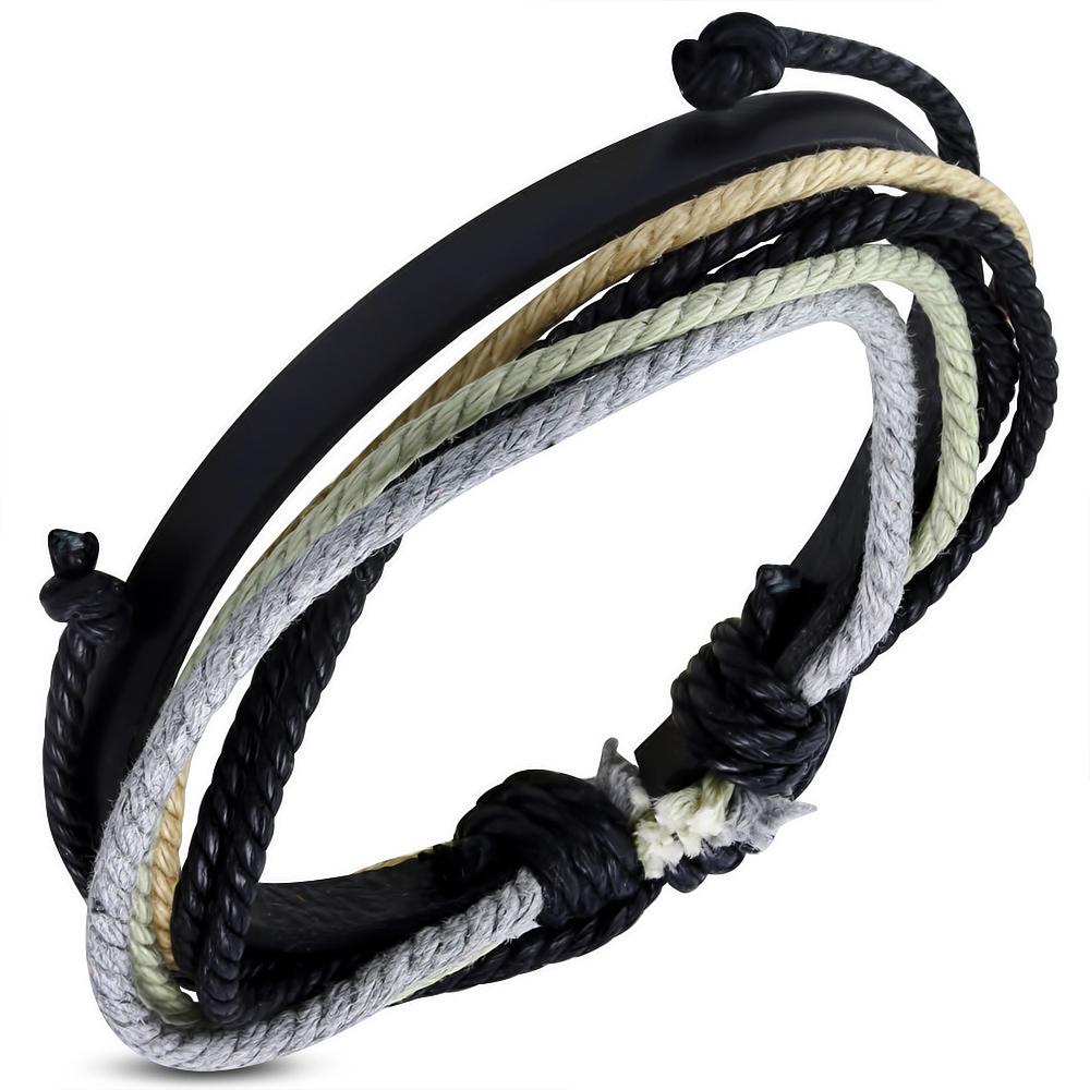 Leren armband met Touw Multi Wrap fwb160