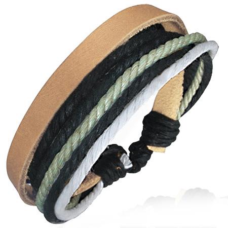 Leren armband met Touw Multi Wrap fwl159