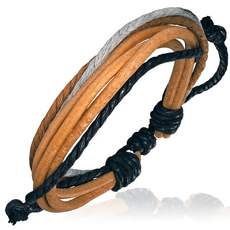 Leren armband met Touw Multi Wrap fwl511