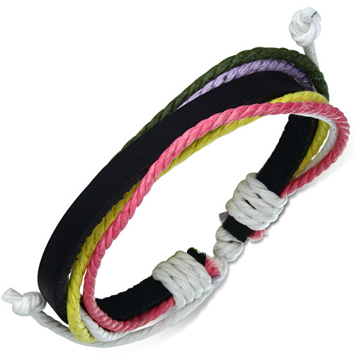 Leren armband Rope Multicolor