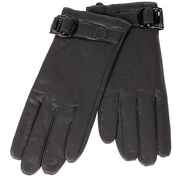 Leren dames handschoenen grijs