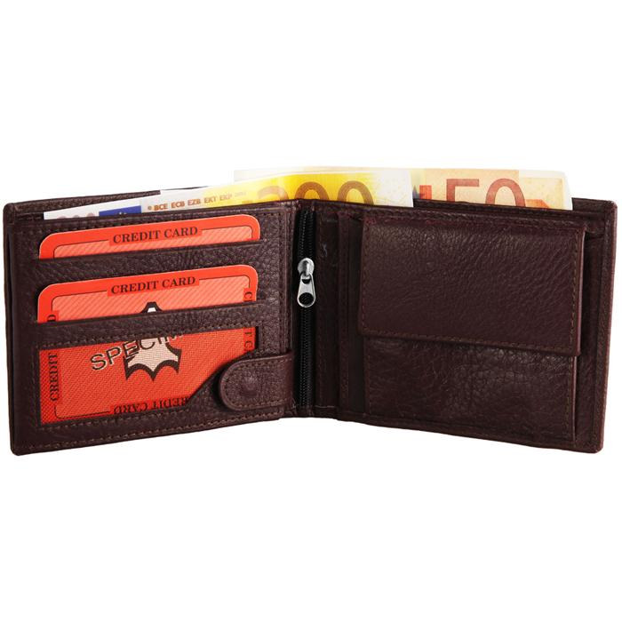 Monopol heren portemonnee Leer Bruin 4049096547477
