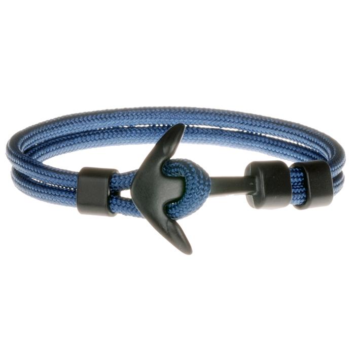 Lgt Jewels Anker Armband Zwart Blauw