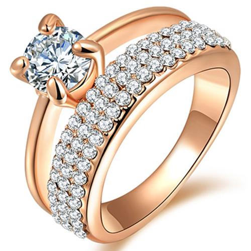 LGT Jewels dames ring Crystal Rose