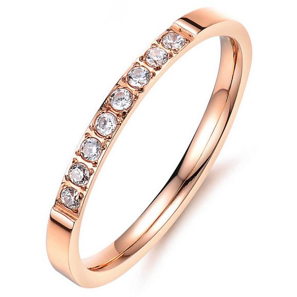 LGT Jewels dames ring Rose Edelstaal Zirkonia