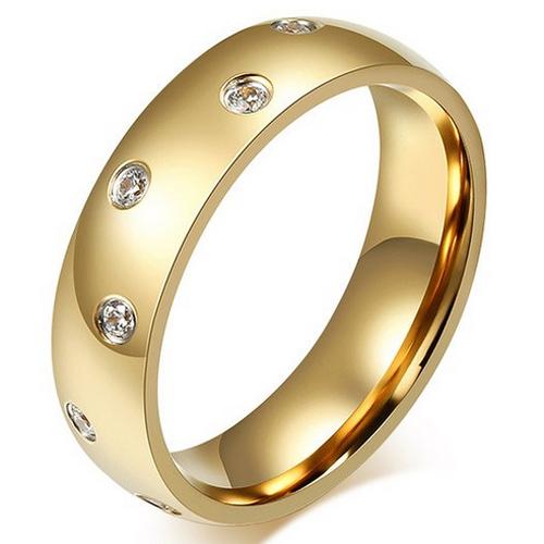 LGT Jewels dames ring Verguld Edelstaal Zirkonia