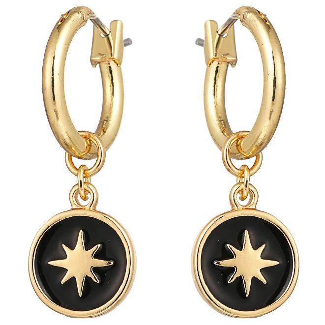 LGT Jewels Damesoorbellen met Dikke Ring en Ster Ring
